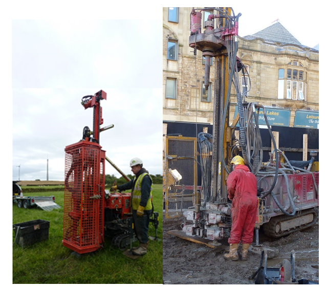 Small, restricted access small volume water injection  Microdrill technology offers the safest and most site friendly way to investigate coal and mine workings today