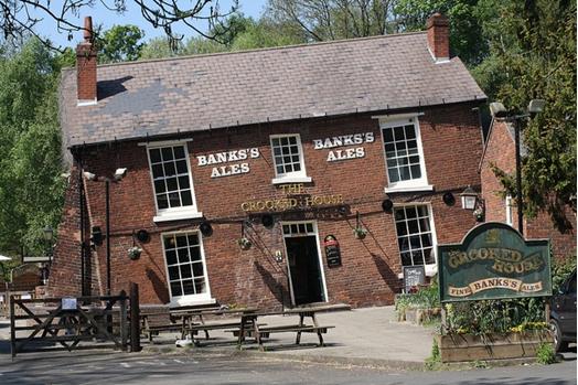 Crooked House Pub, Dudley caused by historical coal mining subsidence