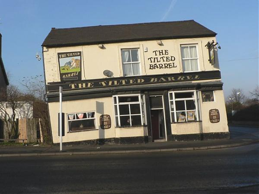 The Tilted Barrel Pub also caused by historical coal mining subsidence